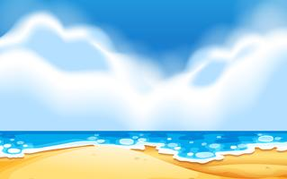 Een lege strandtafereel