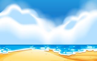 Una scena di spiaggia vuota