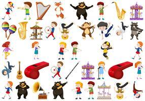 Set von Musikinstrument