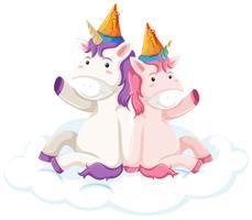 Personaje de unicornio sobre fondo blanco