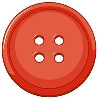 Isolated red button on white background