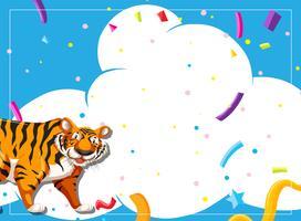 Invitation à une scène de fête du tigre