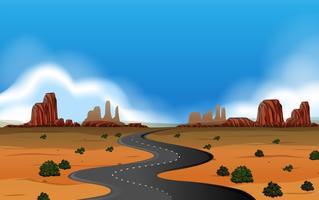 A wild west landscape