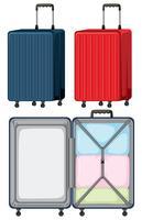 Sats med bagage på vit bakgrund