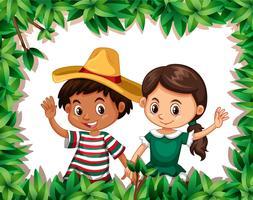 Mexikanskt par på naturramen