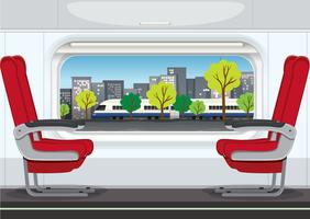 Um interior de trem