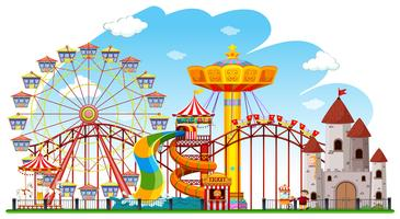 Theme park background scene