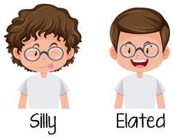 Set av nörd pojke karaktär