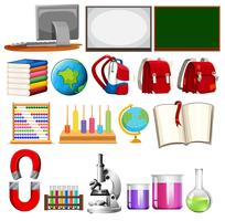 Set van school leren element
