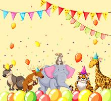 animals in party scene