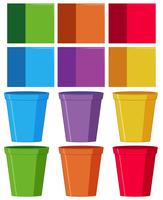 Set of colourful cup