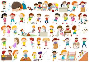 Set of kids character
