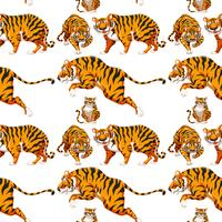 Seamless Multiple Tiger Background