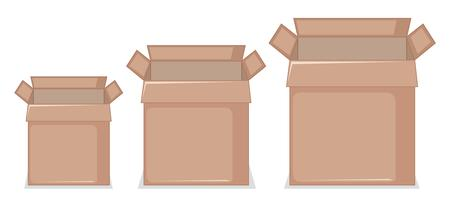 Set di scatola di cartone
