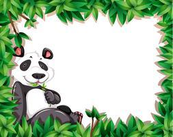 A panda on nature frame