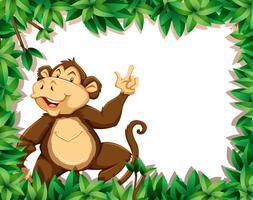 Mono en marco natural