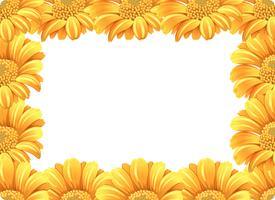 Frontera de flor de margarita amarilla