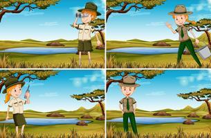 Set di guardie forestali