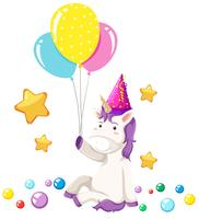 Cute unicorn party scene