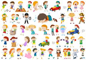 Large set of different kids