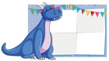 Cute dragon fram template