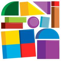 Set of colorful shapes