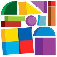 Set med färgglada former
