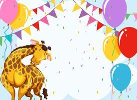 Divertente scena della festa della giraffa