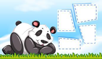 Panda en plantilla en blanco