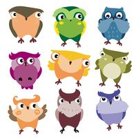 owls character vector design