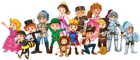 Set of fantasy characters