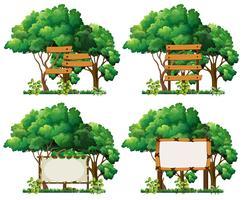 Satz von Bannerzeichen und Baum