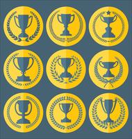 Trofee en awards badges en labels-collectie