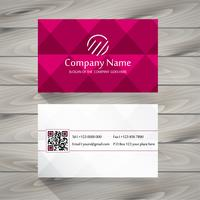 Pink business card vector
