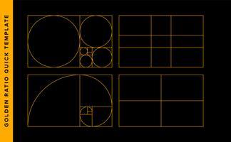 Gouden ratio Vector ontwerpsjabloon