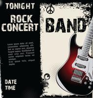 Fondo de grunge de concierto de rock