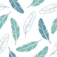 Pastel Colours Feathers Seamless Pattern  vector