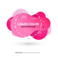 Abstract Liquid Pink Color Banner with line Frame and Brand Placing Logo