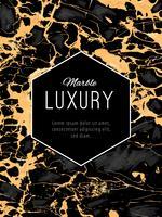 Fond de luxe en marbre doré avec bannière hexogène
