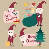 Sammlung von flachen Vektor Weihnachtsmann