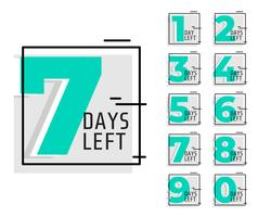 number of days left promotional trendy banner