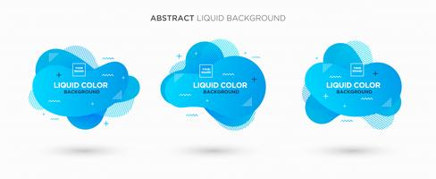 Modern abstract Liquid vector banner set. Flat geometric liquid form with gradient colors & memphis design element. Modern vector template, template for the design of a logo, flyer or presentation.