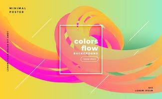 colorful liquid shapes flow poster background