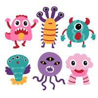 diseño de la colección de personajes monstruo