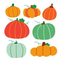 pumpkin vector collection design