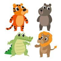 animals character vector design