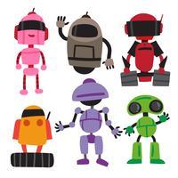 design della collezione di robot vettoriale