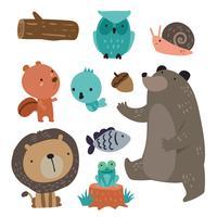diseño de vectores de personajes de animales