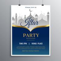 iftar partyinbjudan hälsningskortdesign