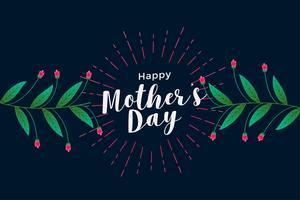 glad mors dag blommig hälsning bakgrund